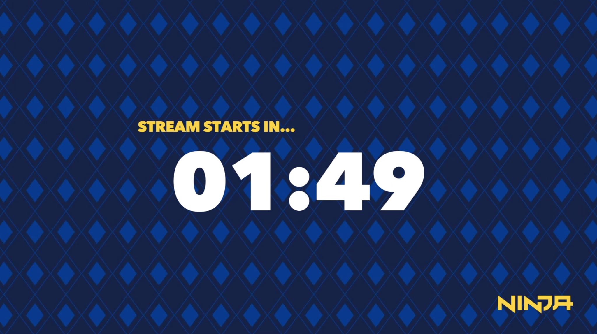 Ninja countdown on Twitch