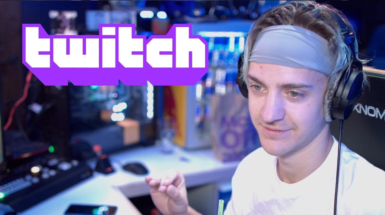 Ninja broadcasts on Twitch.