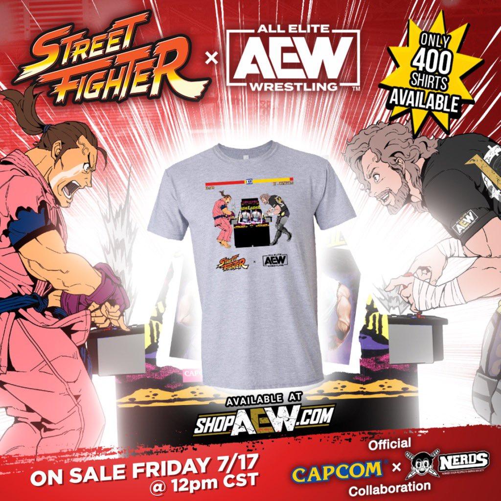 AEW x Street Fighter shirt.