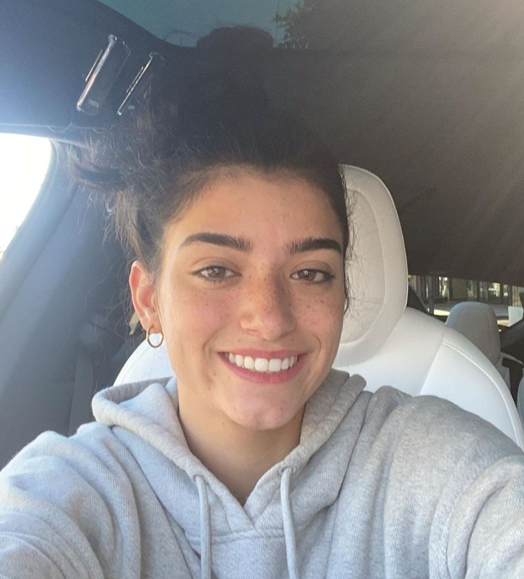 Dixie D'Amelio smiles for a selfie.