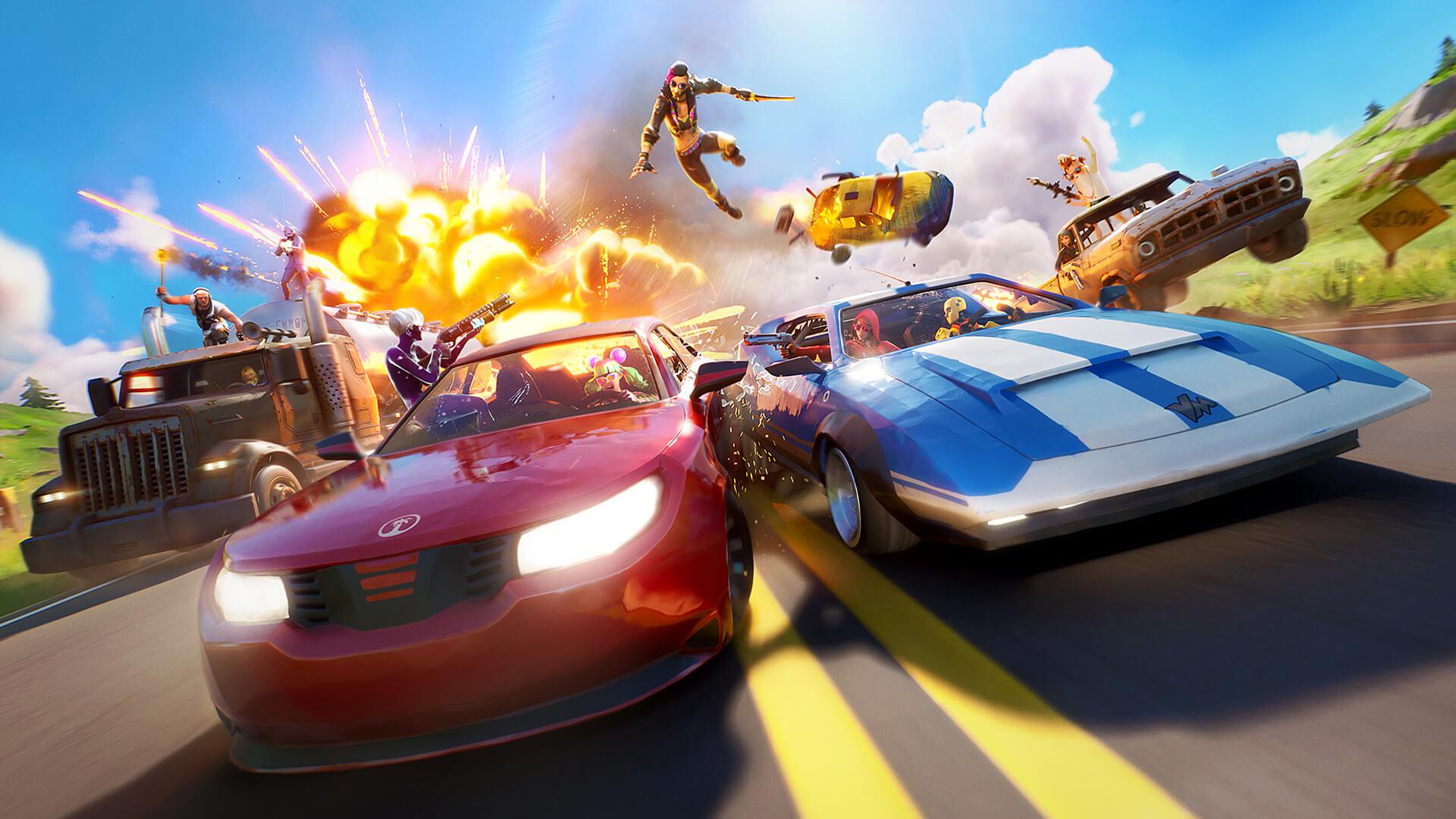 Fortnite vehicle gameplay