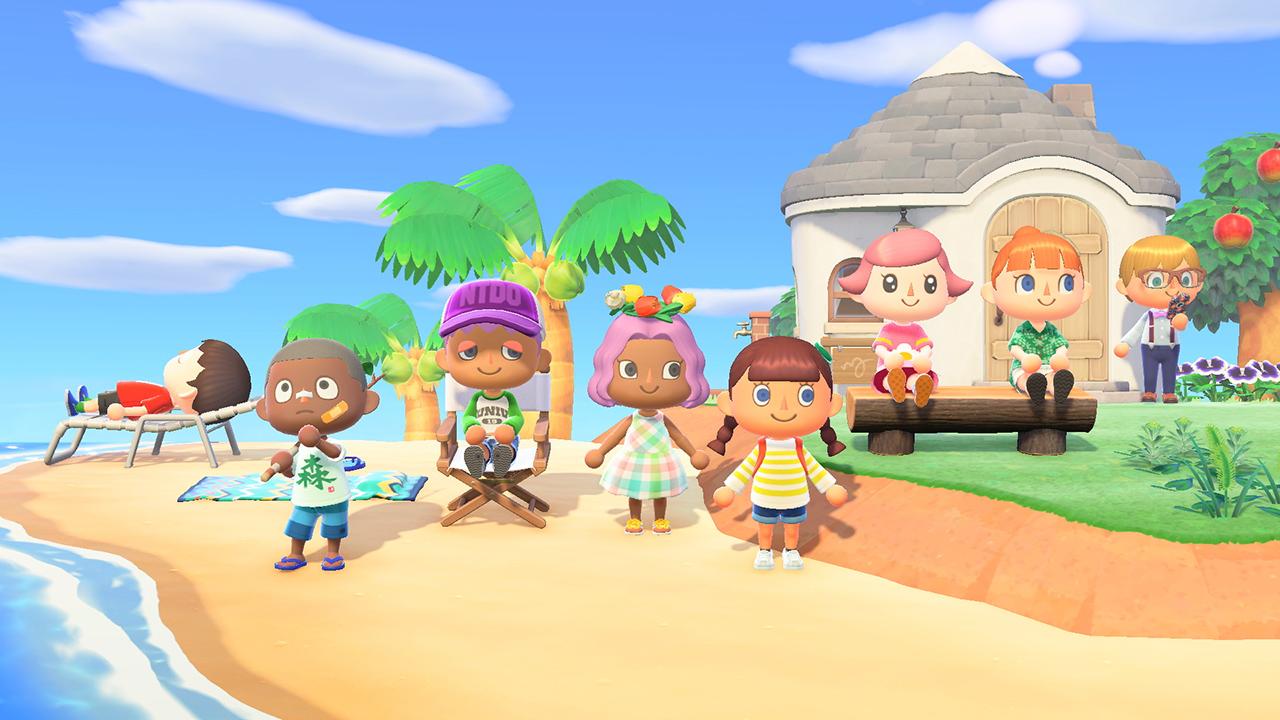 Animal Crossing beach island