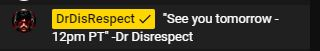 dr disrespect discord message