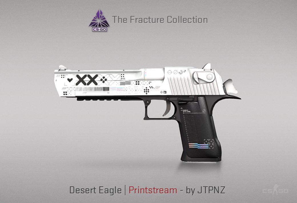 Desert Eagle Printstream skin in CSGO