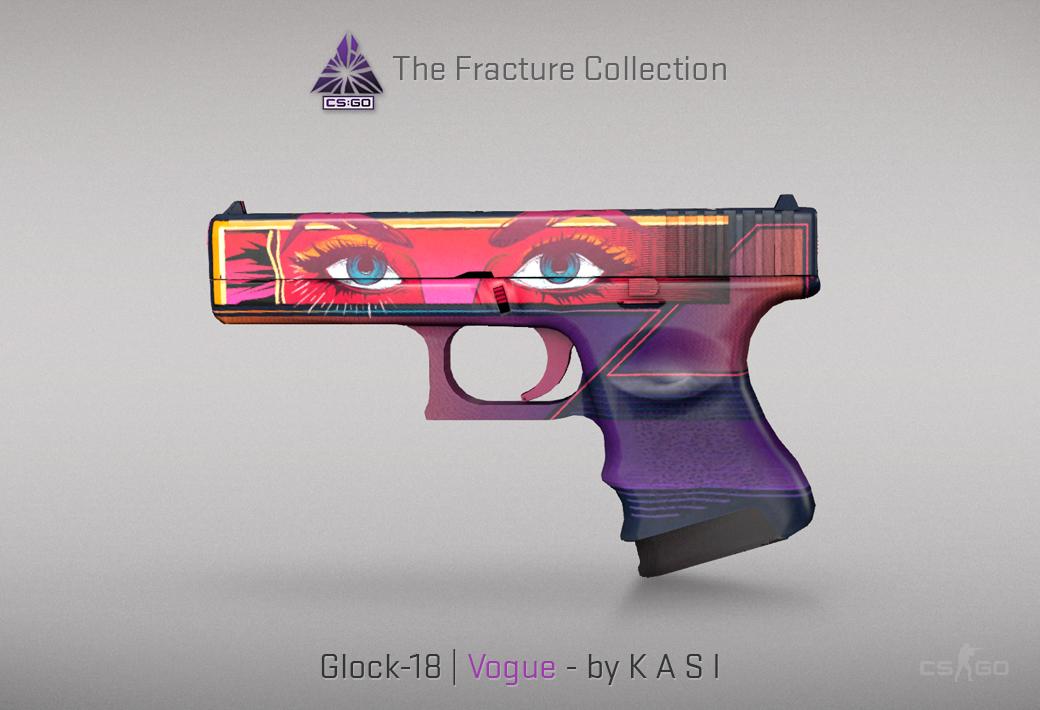 Glock-18 Vogue skin for CSGO