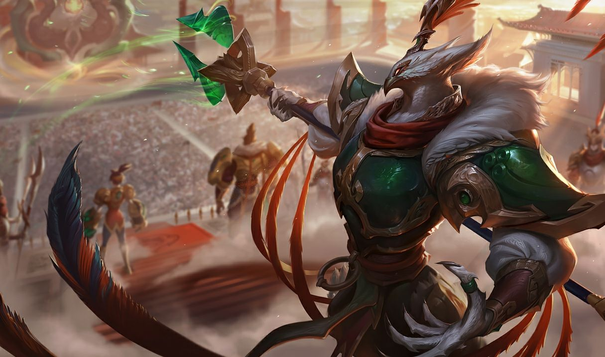 Warring Kingdoms Azir in League of Legends and TFT Set 4