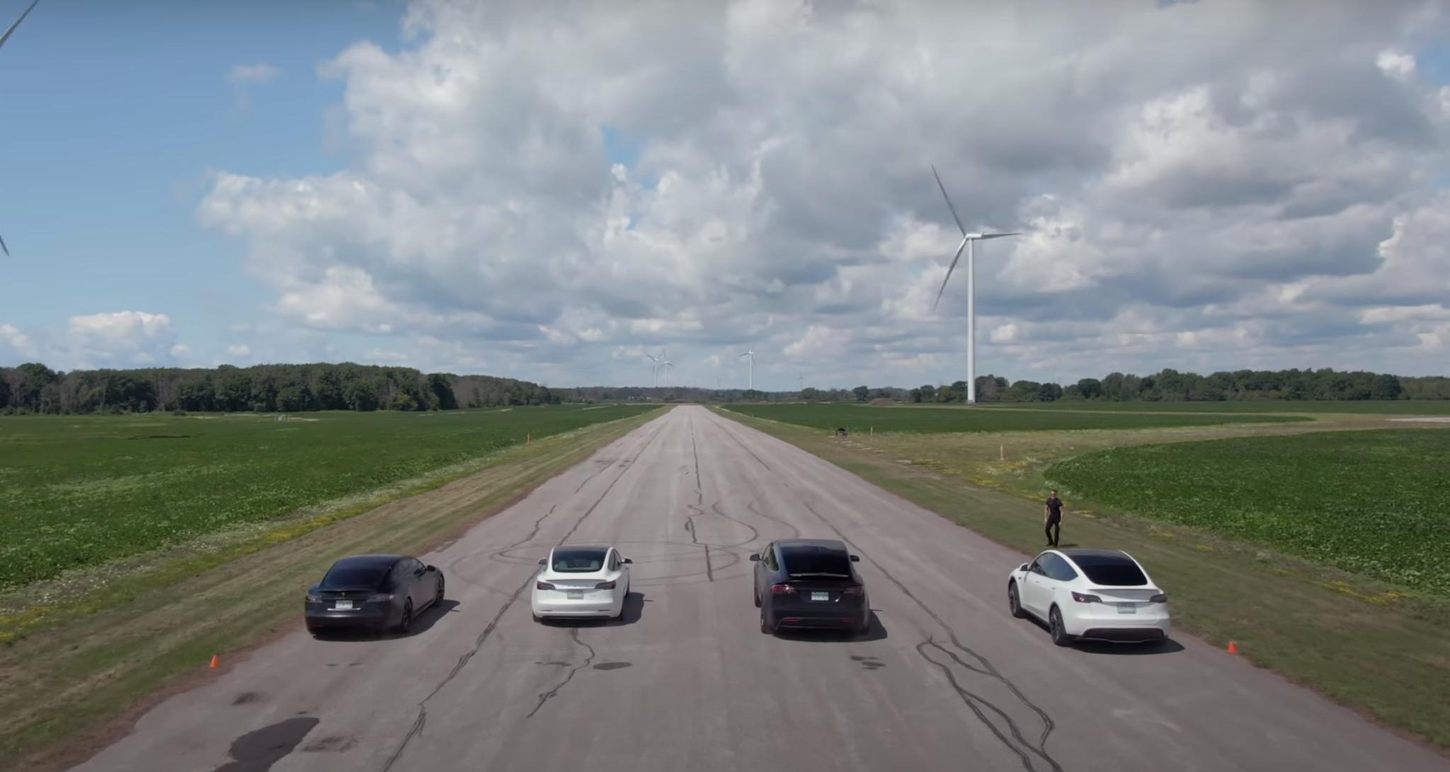 Tesla Mega Drag Race