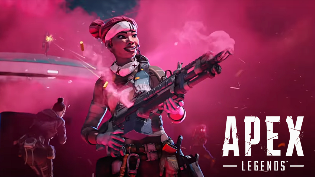Lifeline character holding a gun in apex legends