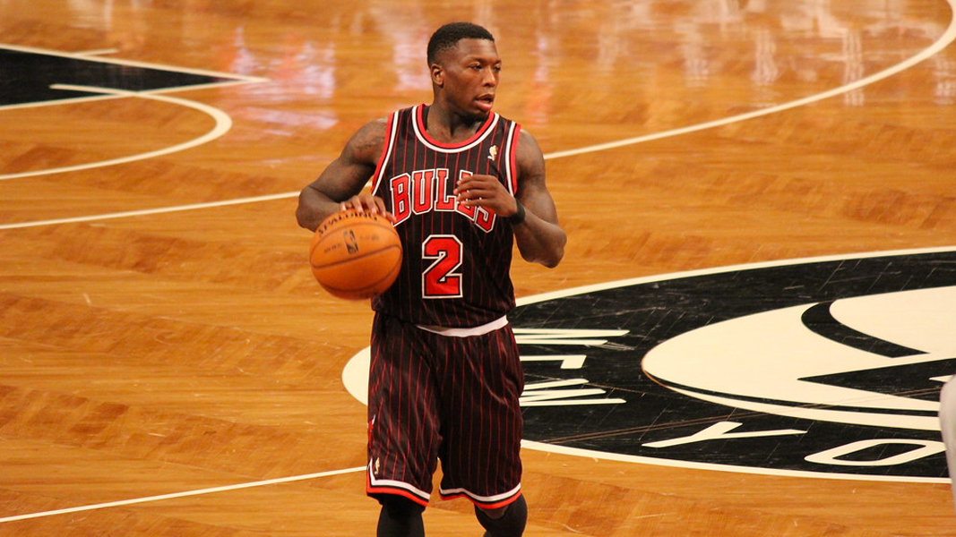 Nate Robinson playing for the Chicago Bulls in the NBA
