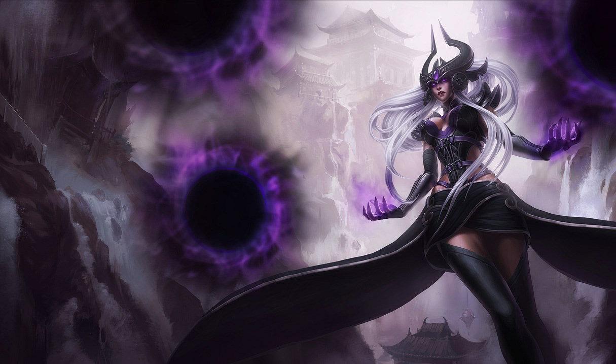 Syndra splash art in League of Legends