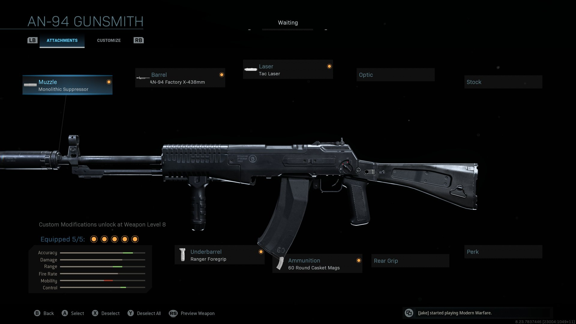 AN-94 loadout for Warzone.