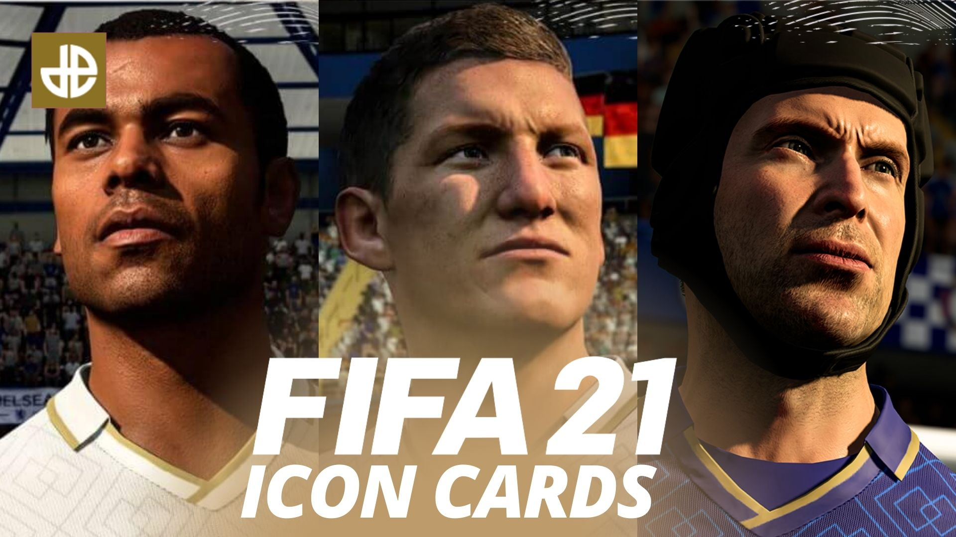 FIFA 21 ICONs list image including Cech, Cole, and Schweinsteiger