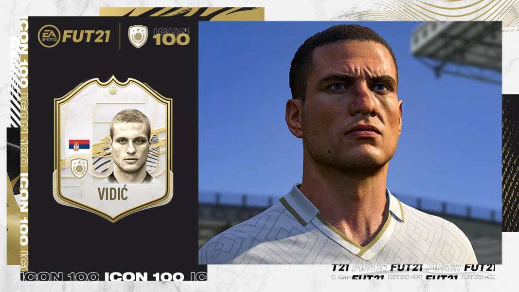 Vidic as an Icon in FIFA 21