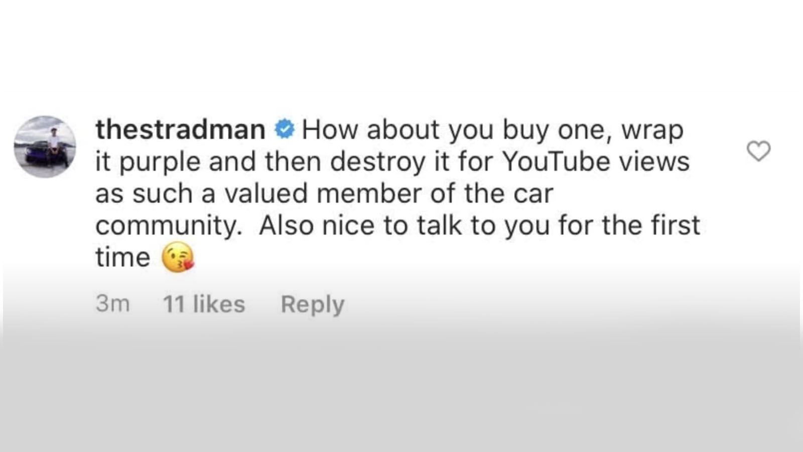 stradman IG comment