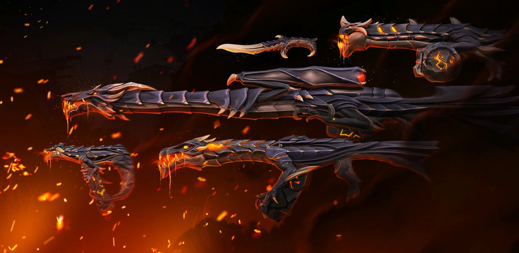 Elderflame skin collection in Valorant.