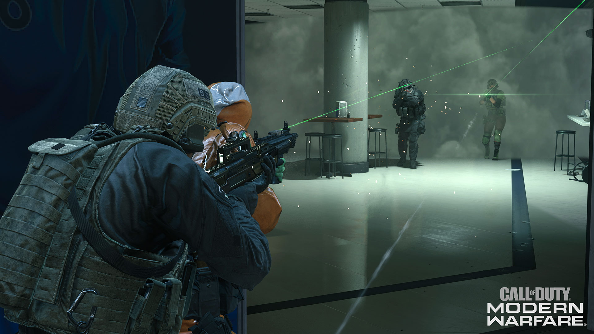 Players in Stadium in Warzone