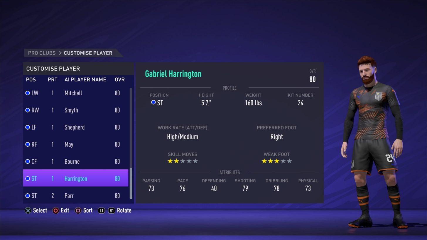 FIFA 21 Pro Clubs