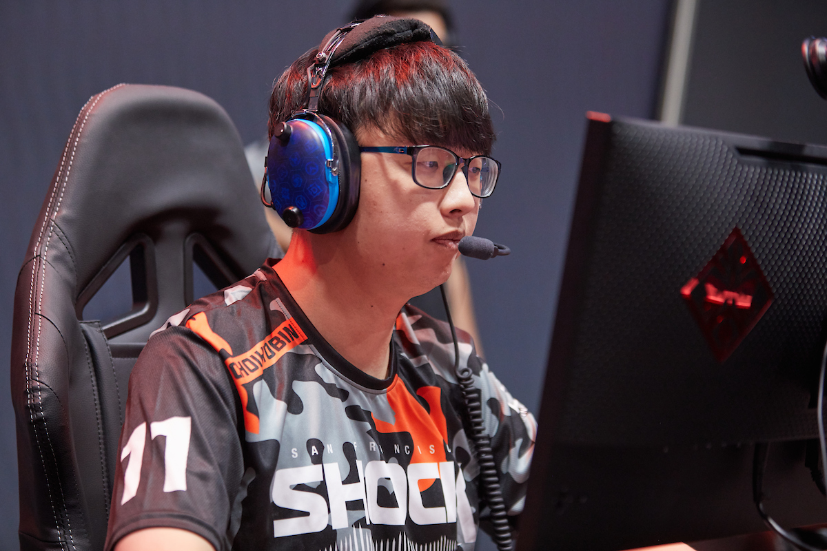 ChoiHyoBin stares at his screen during the 2019 OWL Grand Finals
