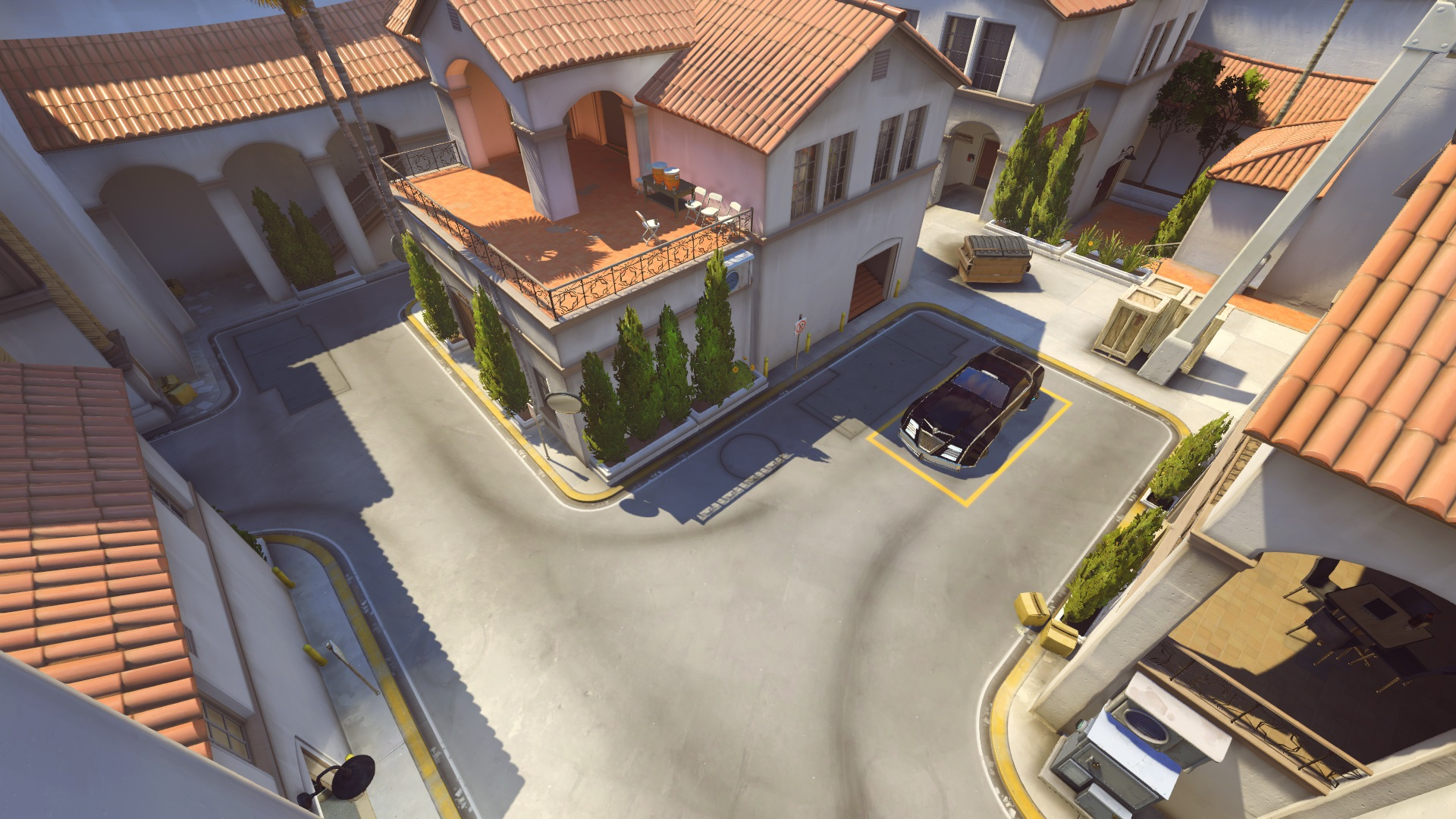 Overwatch overhead view of Hollywood