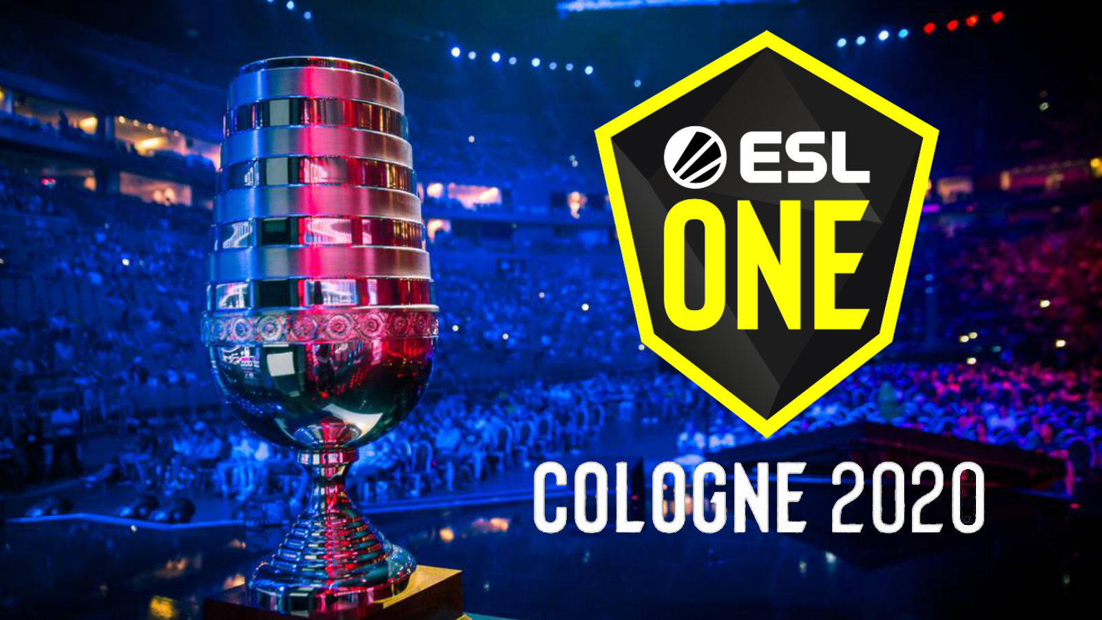 ESL One Cologne trophy and logo