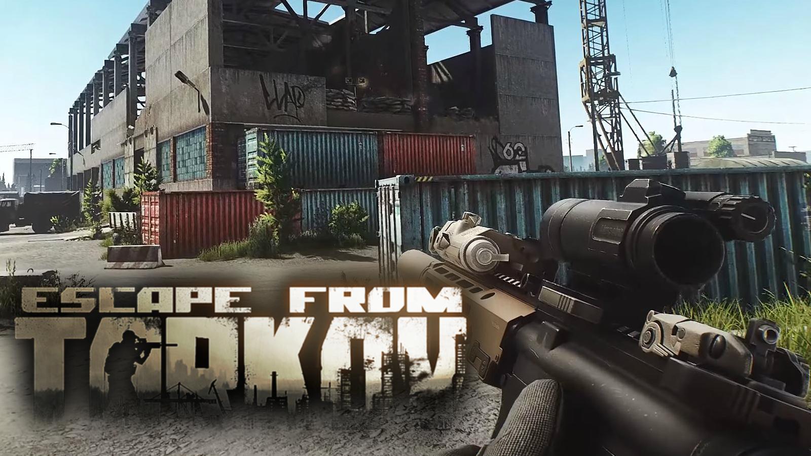 Escape from Tarkov gun and logo