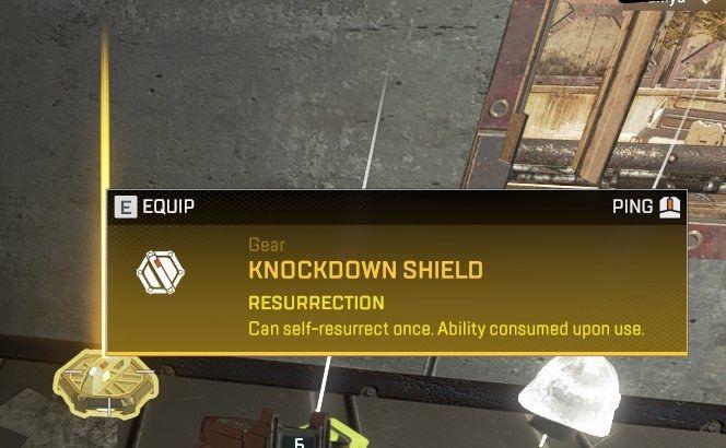 Gold knockdown shield in Apex Legends