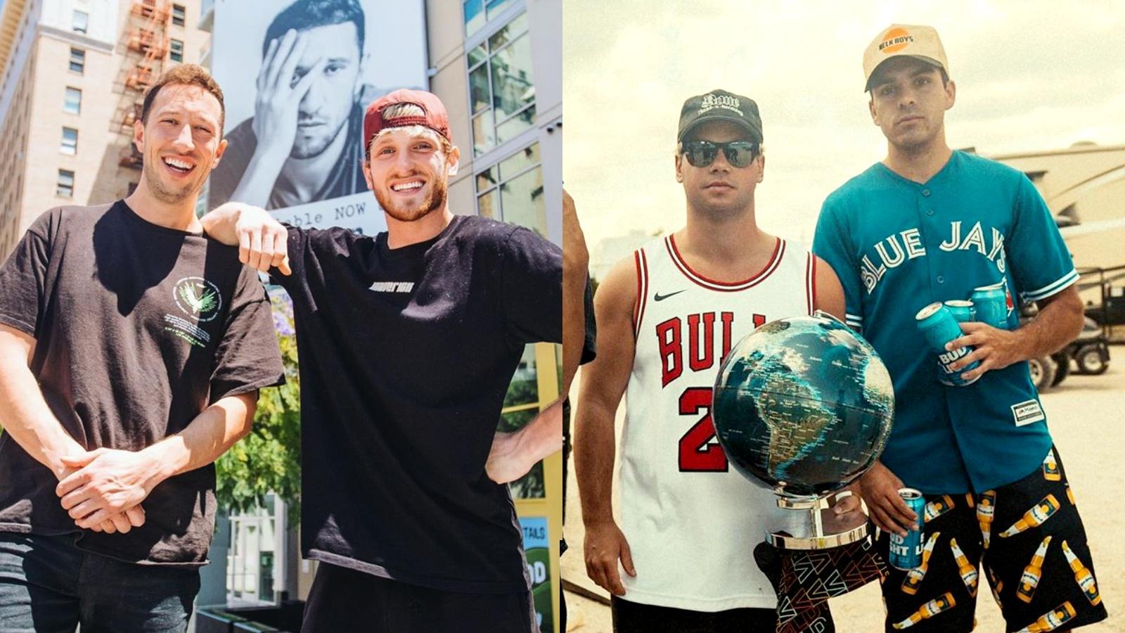Logan Paul, Mike Majlak, NELK's Jesse Forgeard and Jesse Sebastiani