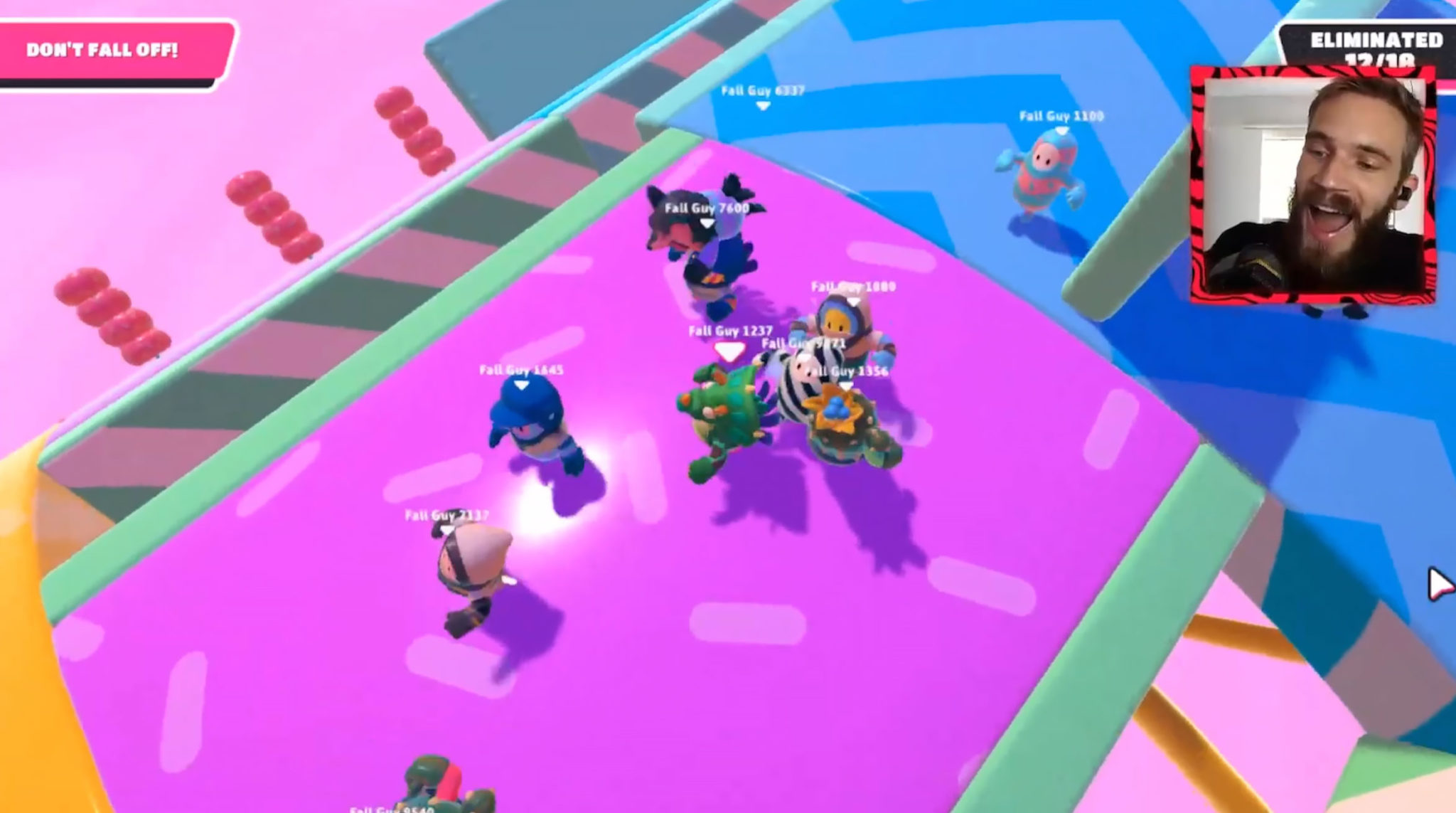 pewdiepie playing fall guys