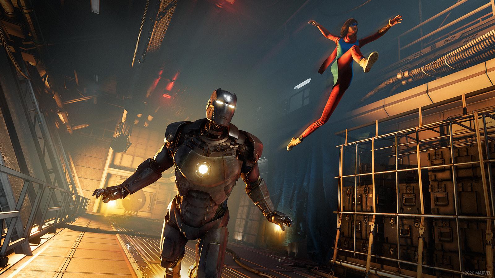Avengers Iron Man and Kamala