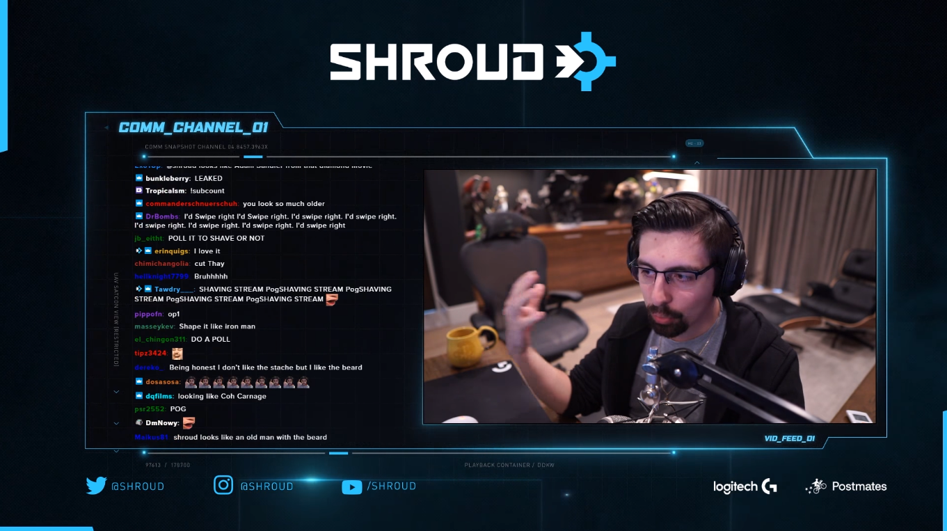 Shroud hit a high of 517k viewers during his Twitch return.
