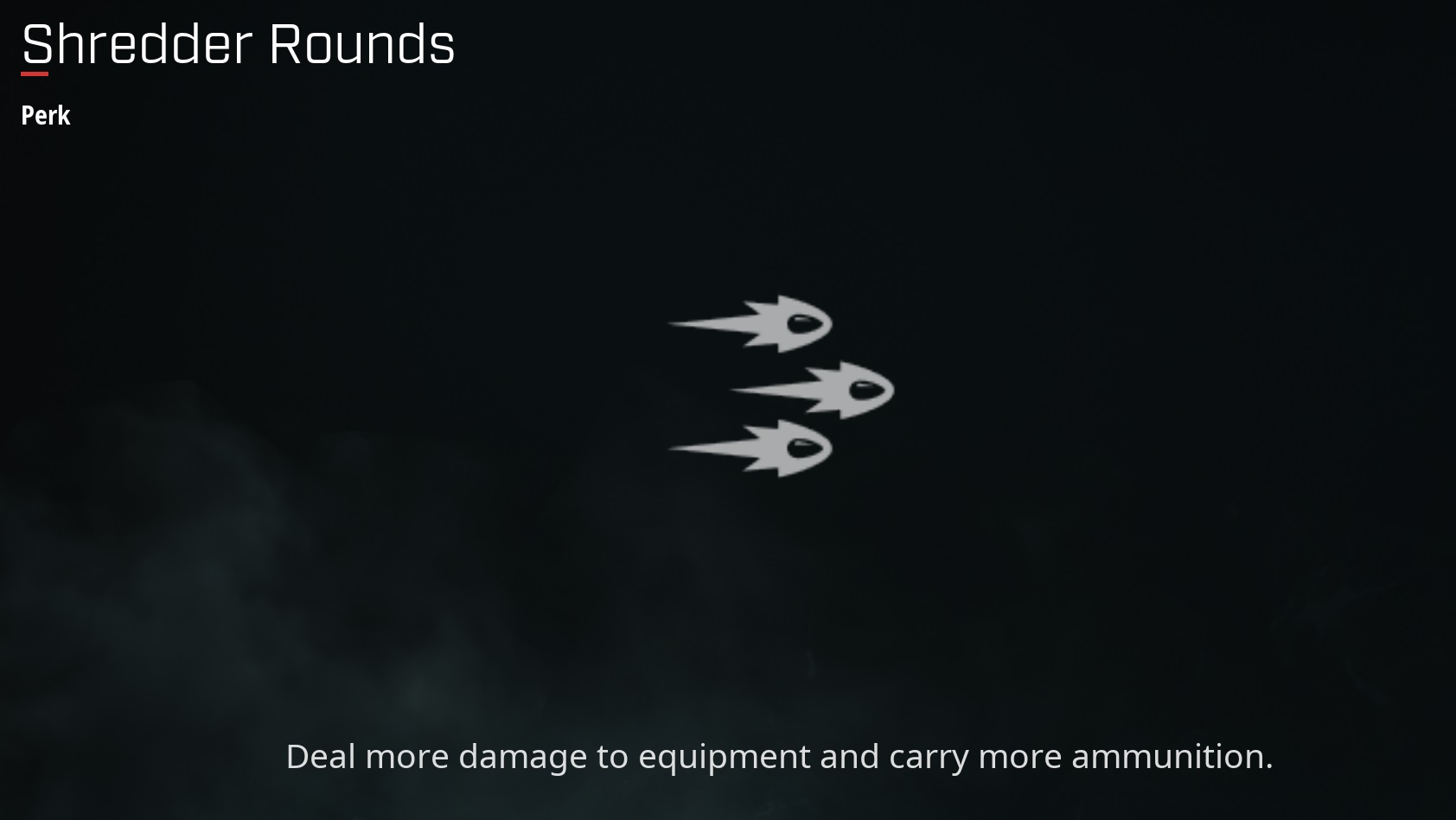 Shredder Rounds perk