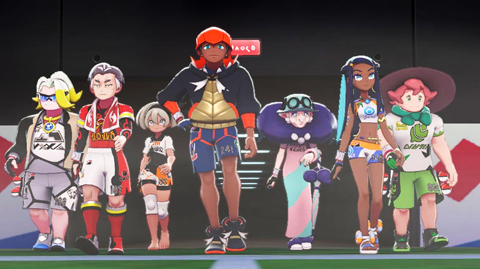 pokemon sword shield gym leaders