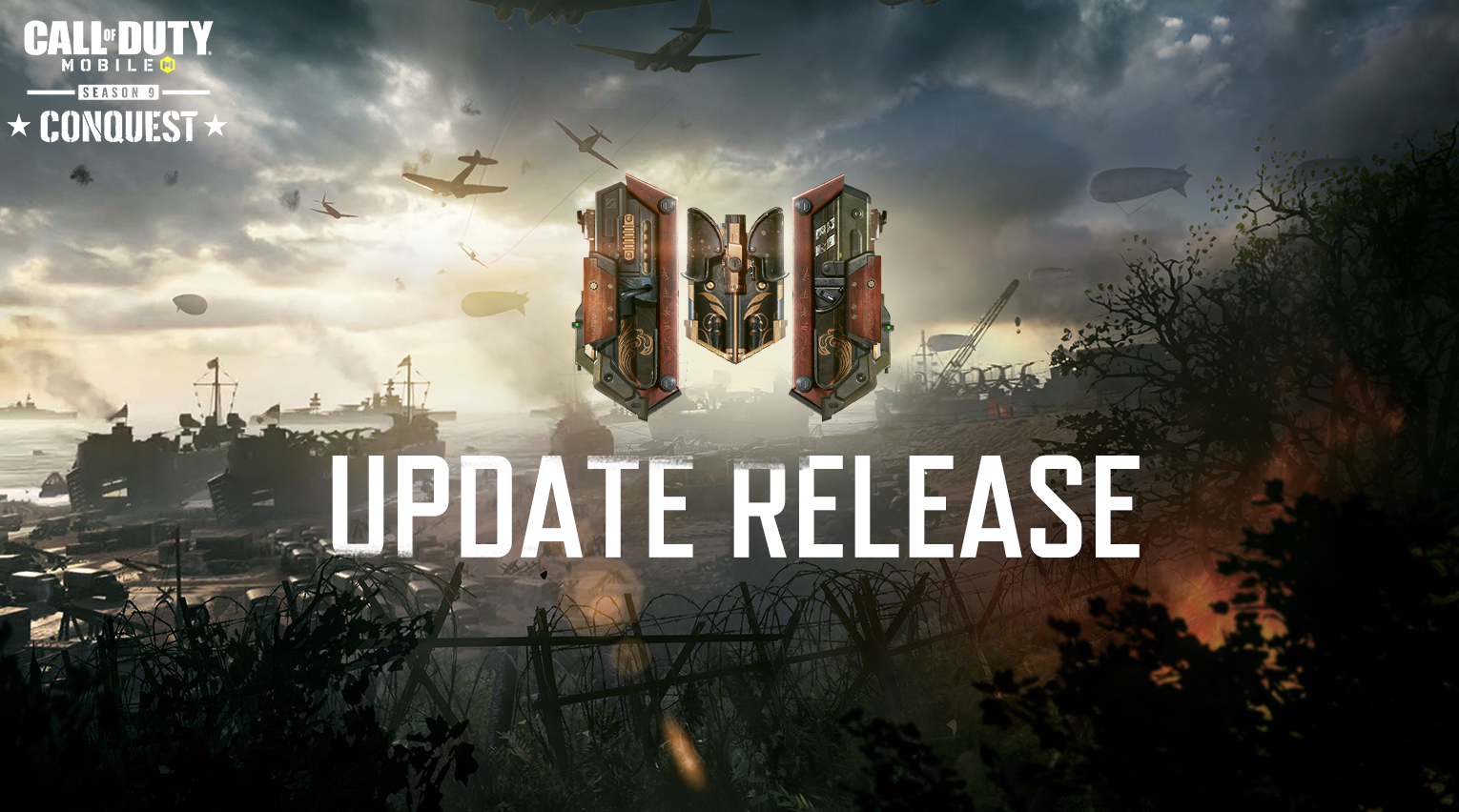 CoD Mobile update release with conquest logo