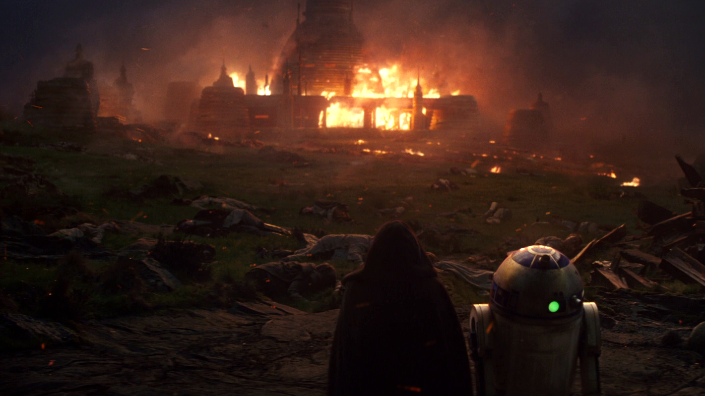 The rumored Ben Solo series would likely end with the destruction of Luke Skywalker's new Jedi temple.