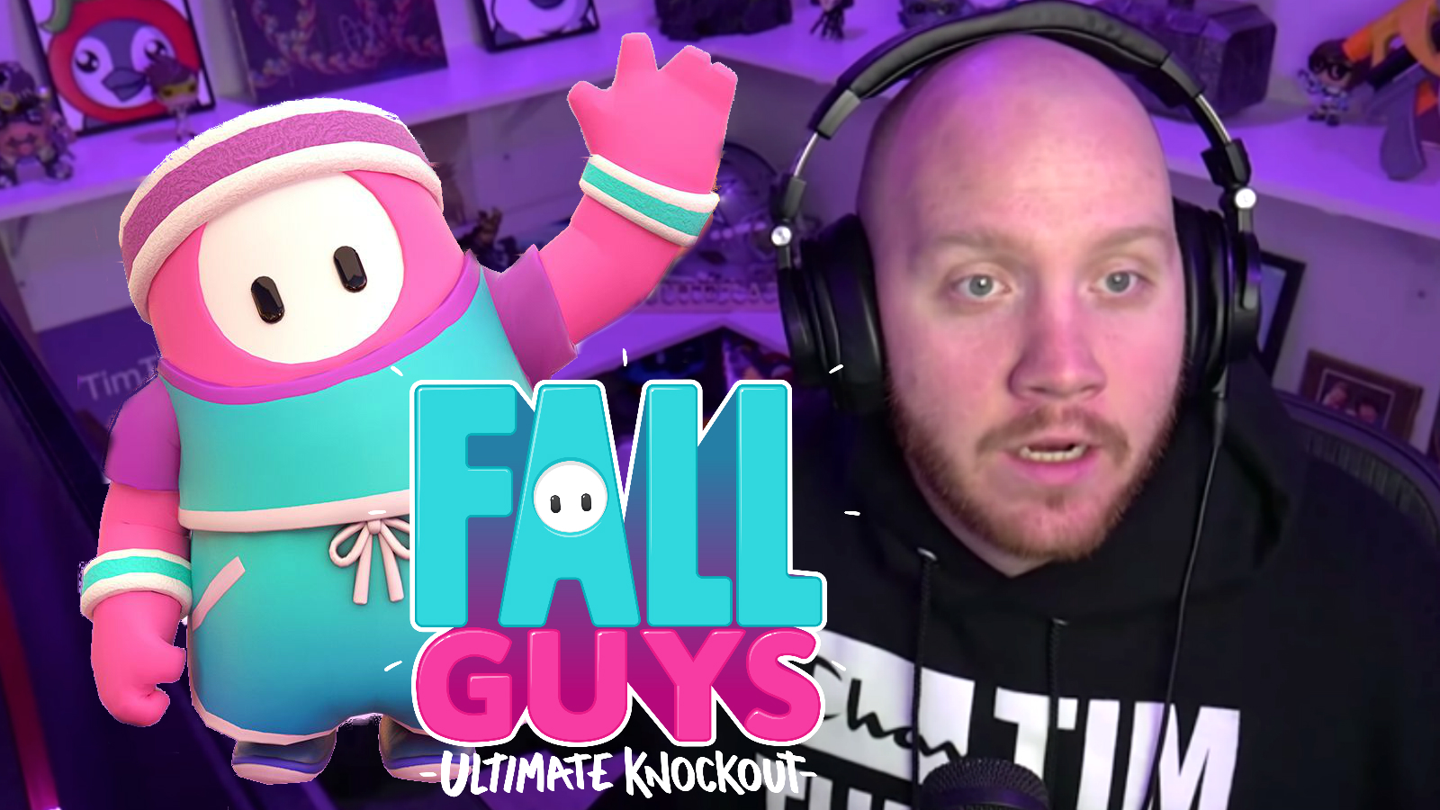 TimTheTatman playing Fall Guys