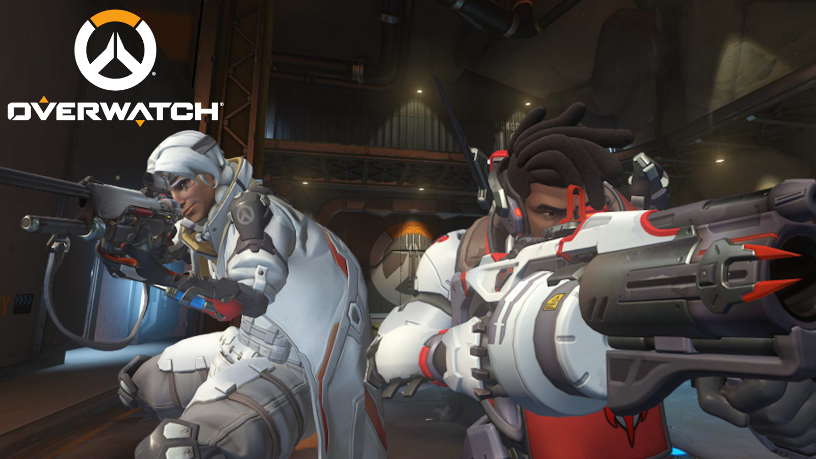 Ana and Baptiste defend Watchpoint in Overwatch