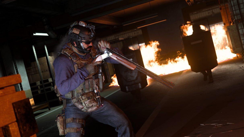 Warzone character holding shotgun