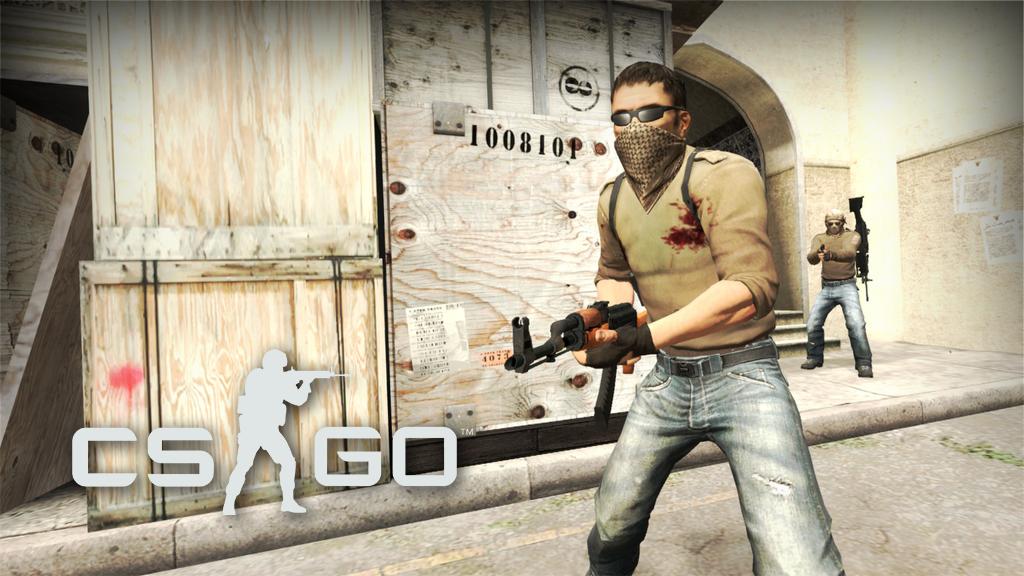 CS:GO terrorist outside B tunnels on Dust 2