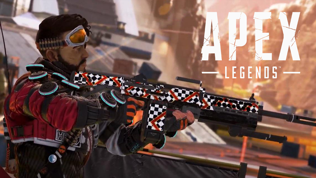 Mirage holding an LMG in Apex Legends