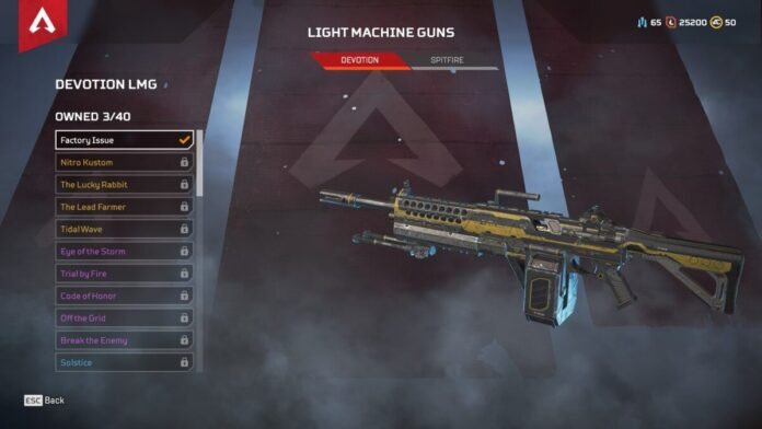 Devotion LMG weapon in Apex Legends
