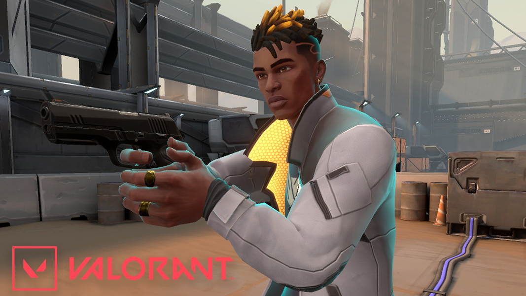 Phoenix Agent holding a weapon in Valorant