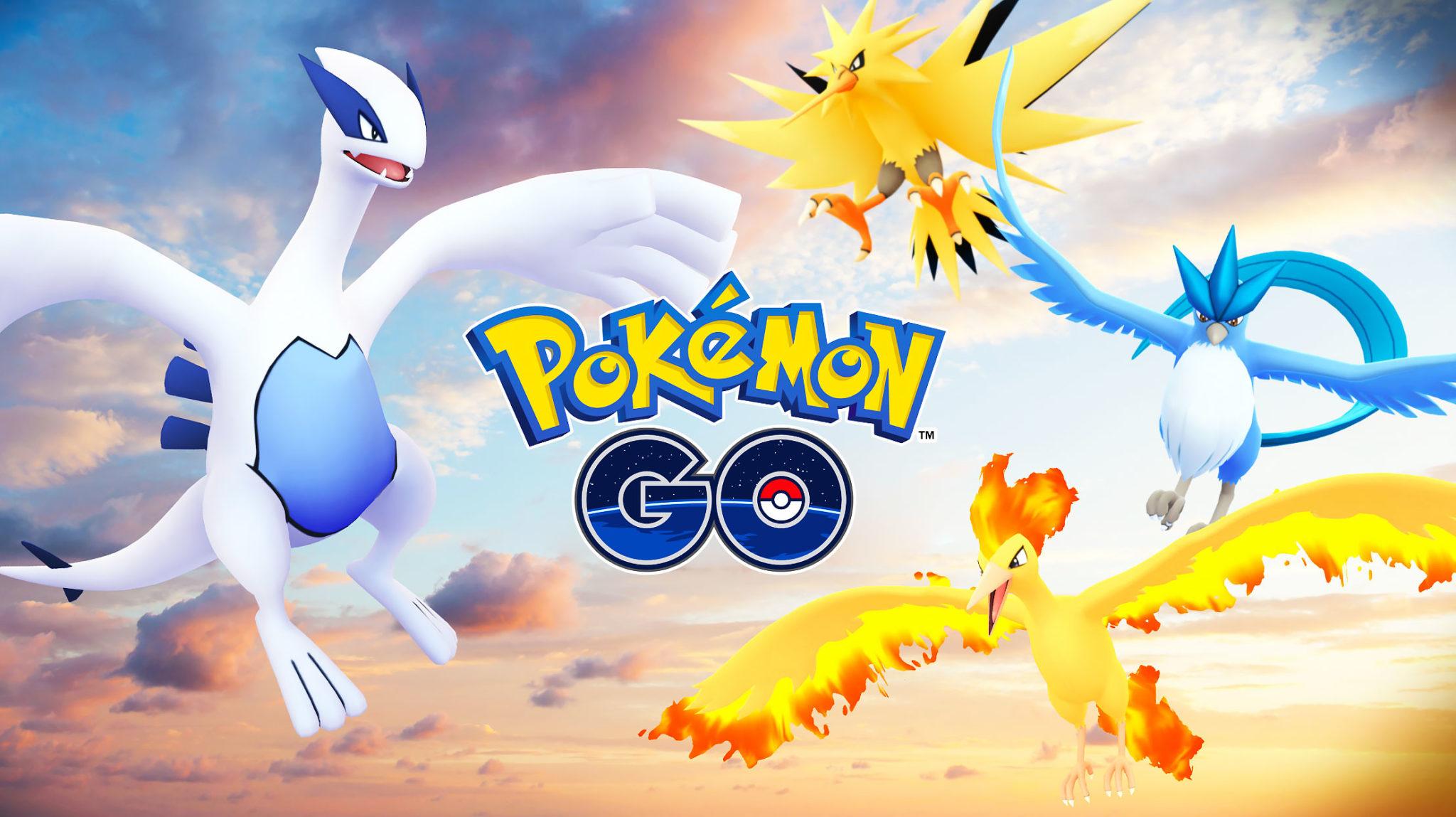 pokemon go legendary birds lugia