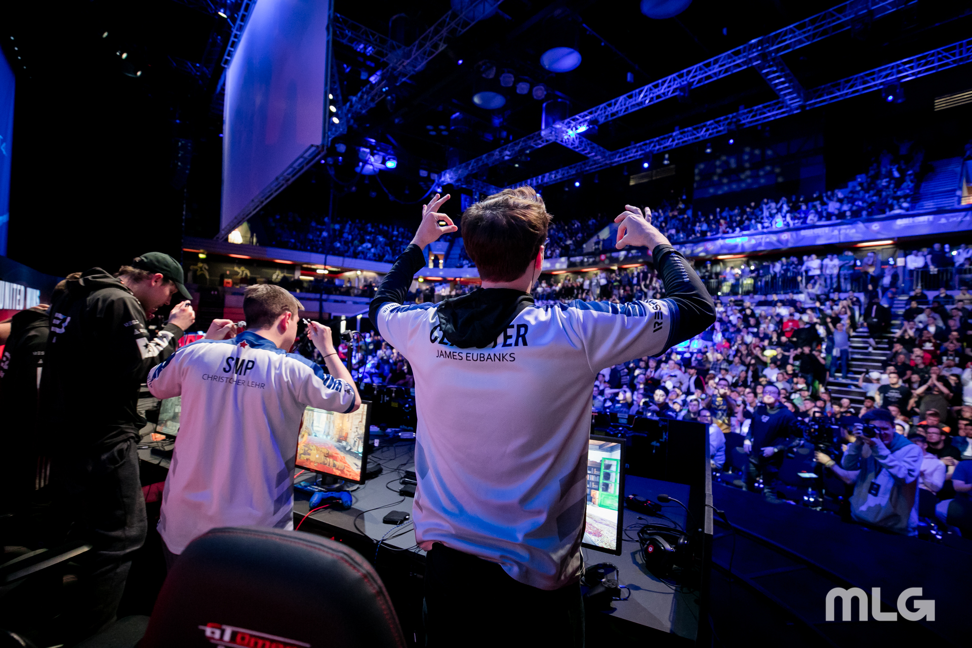 Simp and Clayster after winning a match