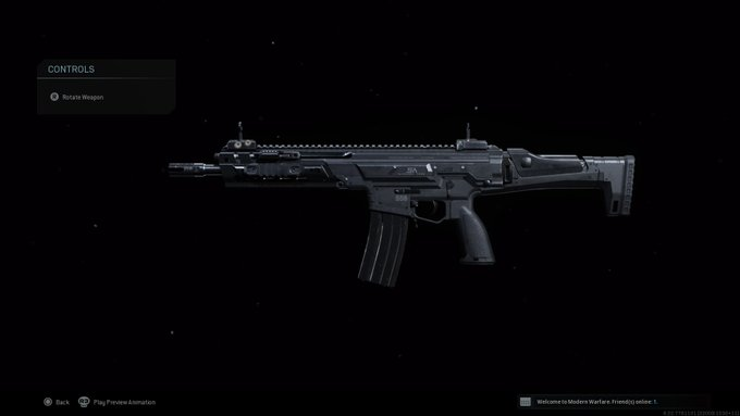 Call of Duty kilo weapon in inspect feature.