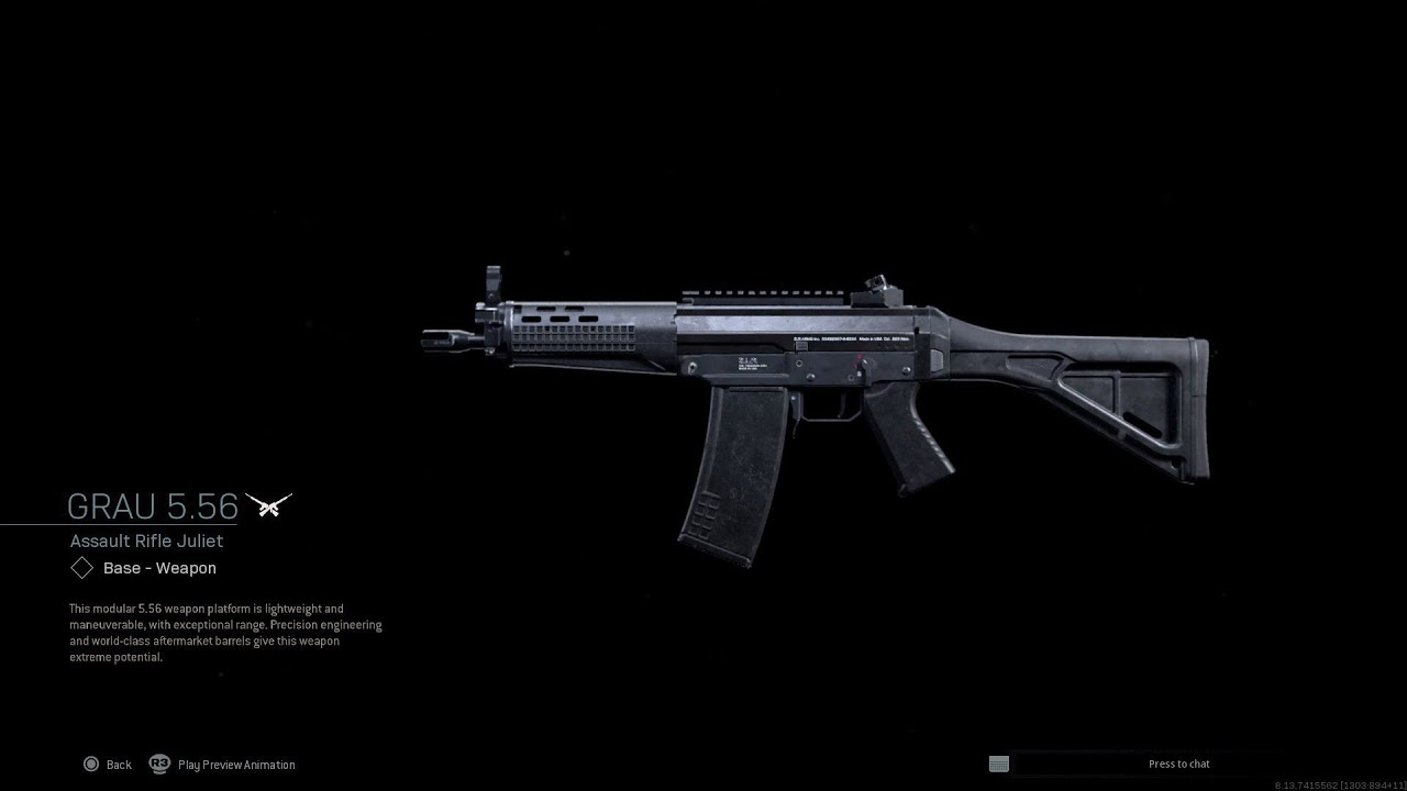 Grau assault rifle in modern warfare