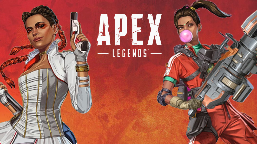 Loba and Rampart in Apex Legends