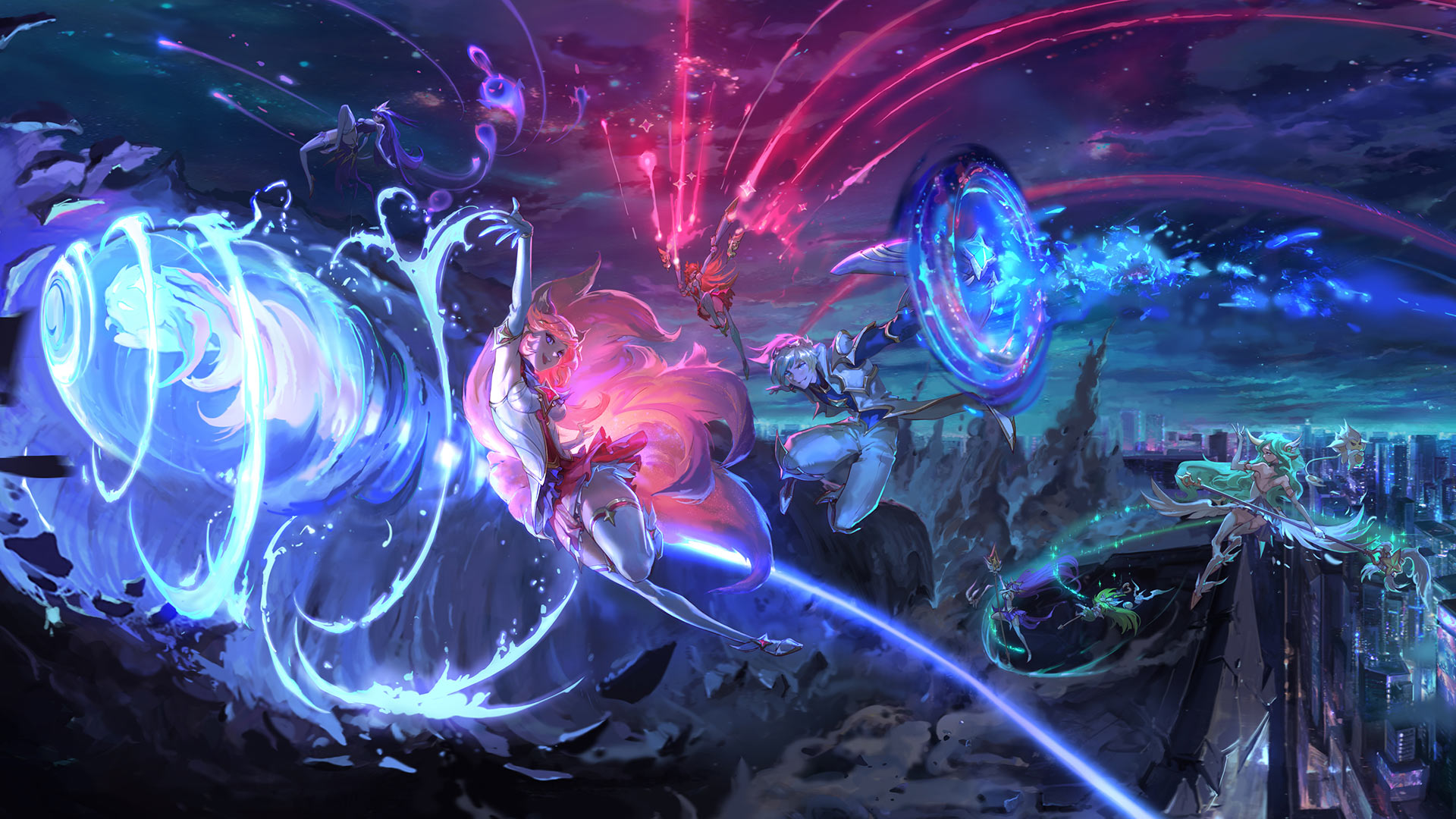 Star Guardian Ahri, Soraka, and Ezreal in TFT