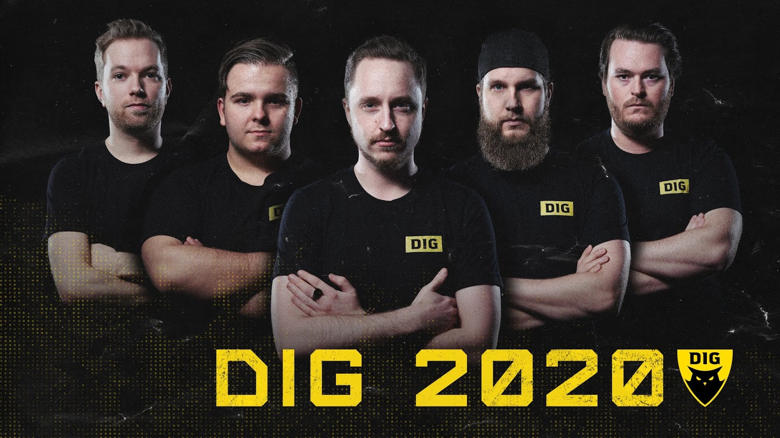 Dignitas 2020 CS:GO roster of Xizt, hallzerk, Get_Right, F0rest, and Friberg