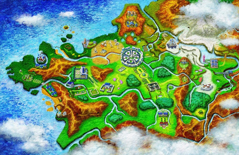 Kalos Region Map