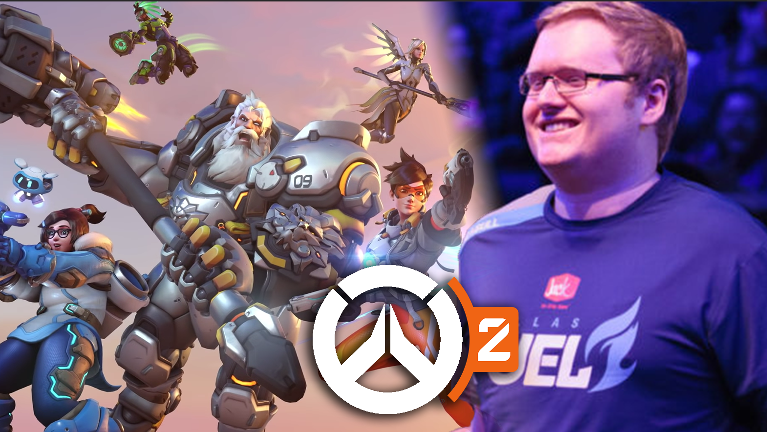 Overwatch 2 poster / Seagull walking through Overwatch League crowd